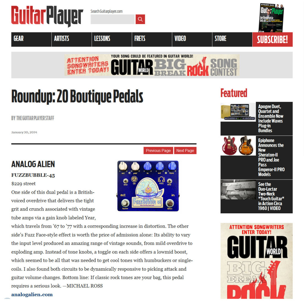 Guitar Player January 2014
