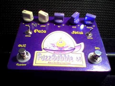 The Analog Alien FuzzBubble-45 fuzz face distortion pedal rocks Germany!