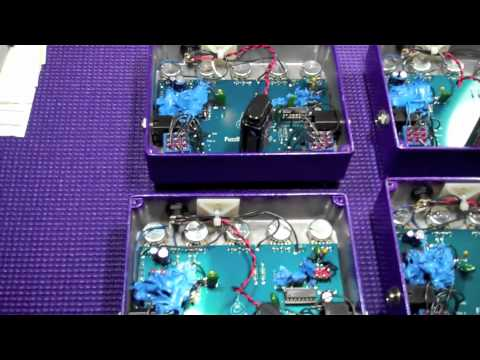 A look inside the Analog Alien FuzzBubble-45 fuzz face pedal work shop.