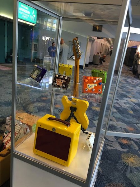 Display case NAMM 2016